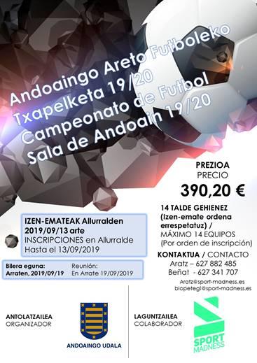 DADKUTXABANK FUTBOL SALA: CAMPEONATO DE ANDOAIN
